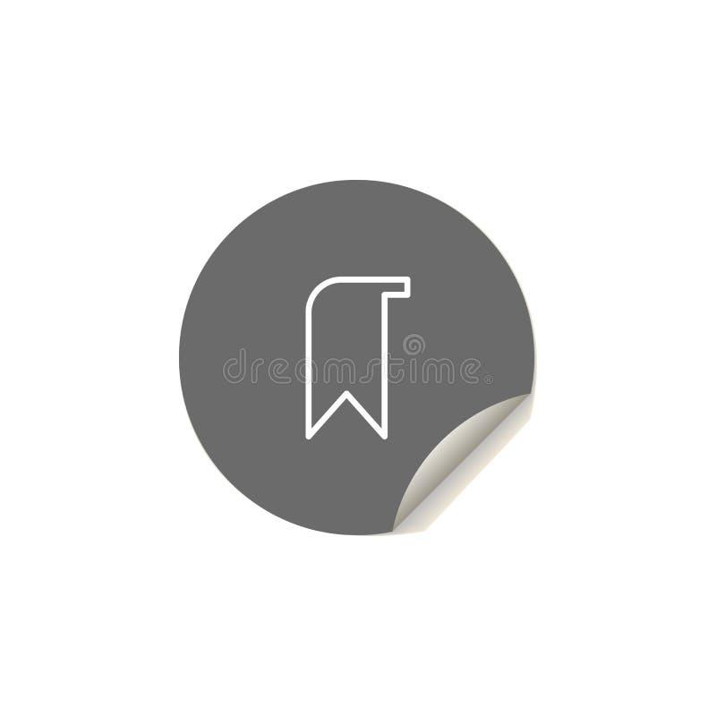 Icona della linguetta Elemento delle icone di web per i apps mobili di web e di concetto L'icona della linguetta di stile dell'au illustrazione vettoriale