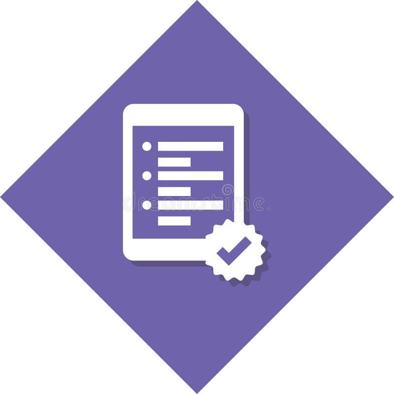 Icona della lista immagine stock