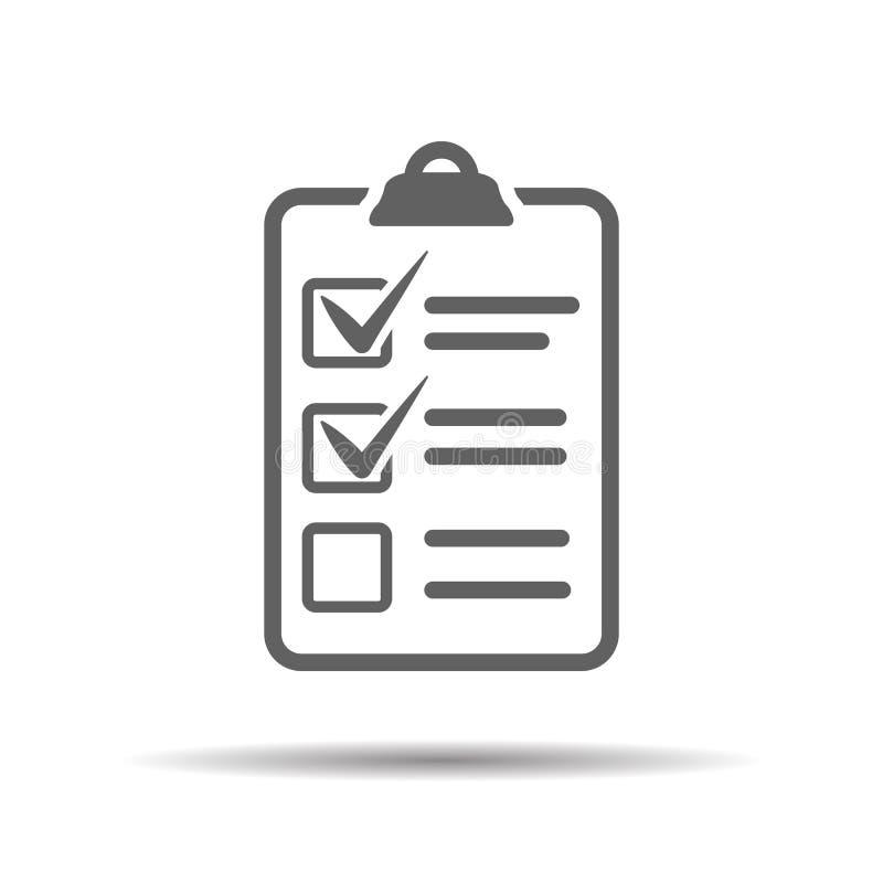 Icona della lista di assegno illustrazione di stock