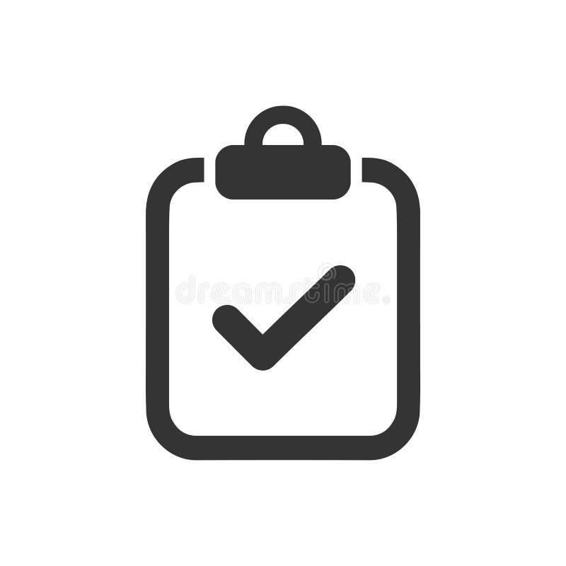 Icona della lista di controllo illustrazione di stock