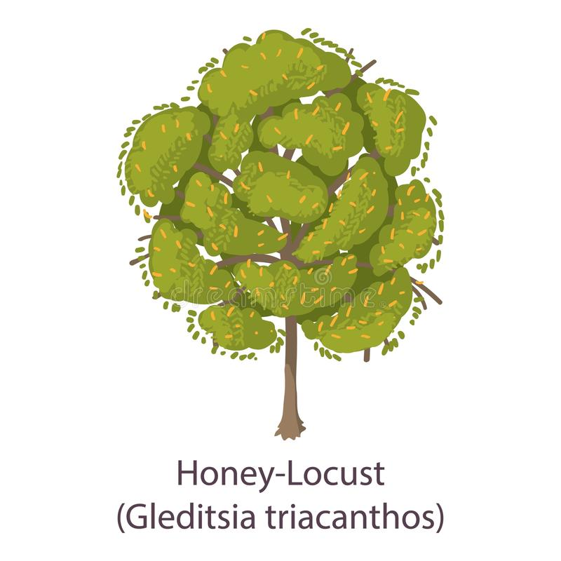 Icona della locusta di miele, stile piano royalty illustrazione gratis