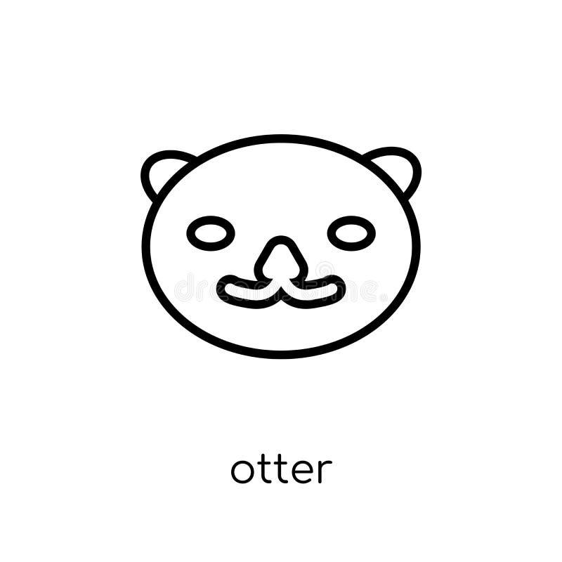 icona della lontra  illustrazione di stock