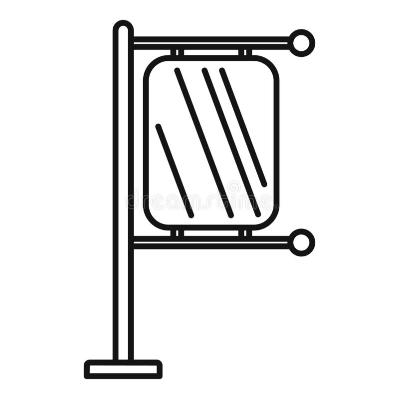 Icona della luce della città della colonna, stile del profilo royalty illustrazione gratis