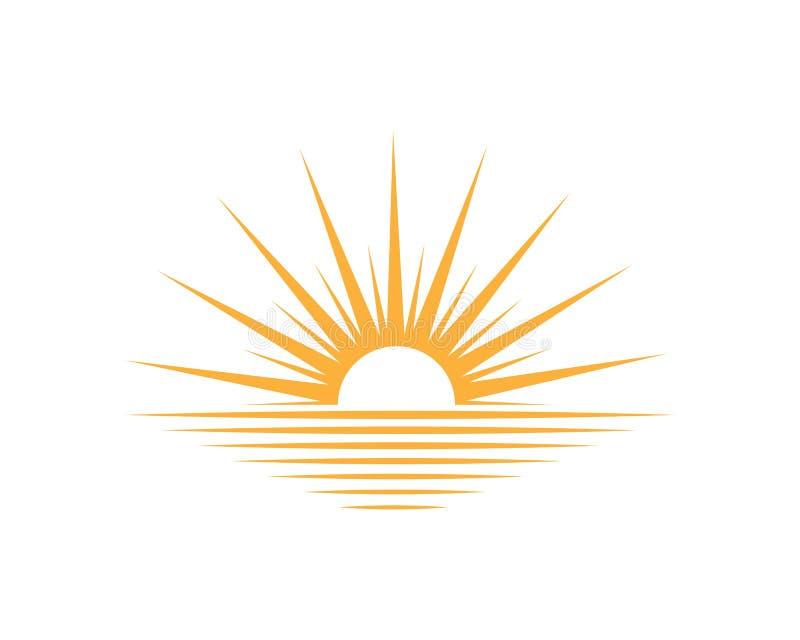 icona della luce di logo del sole illustrazione di stock