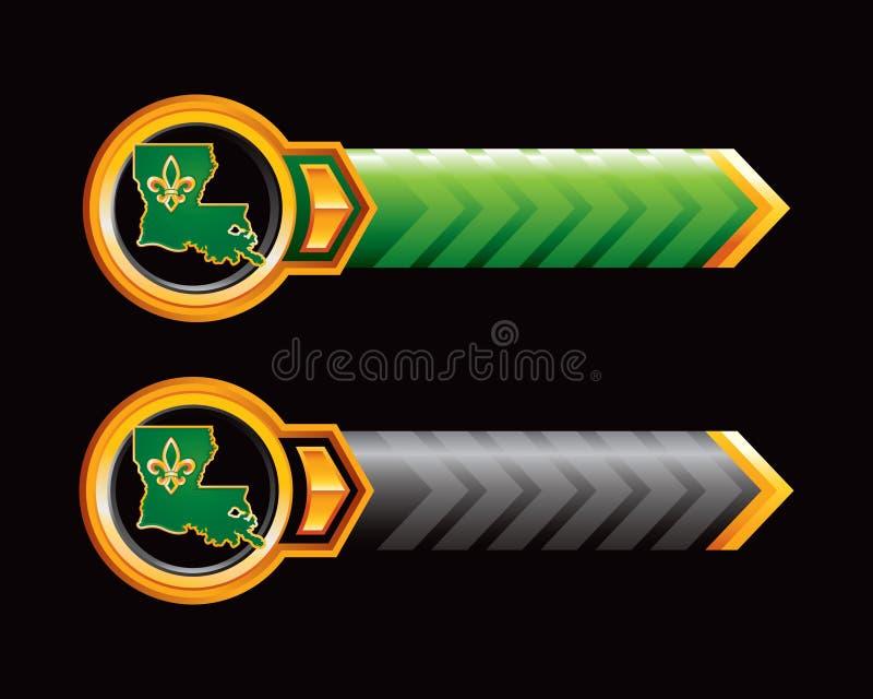 Icona della Luisiana sulle frecce verdi e nere royalty illustrazione gratis