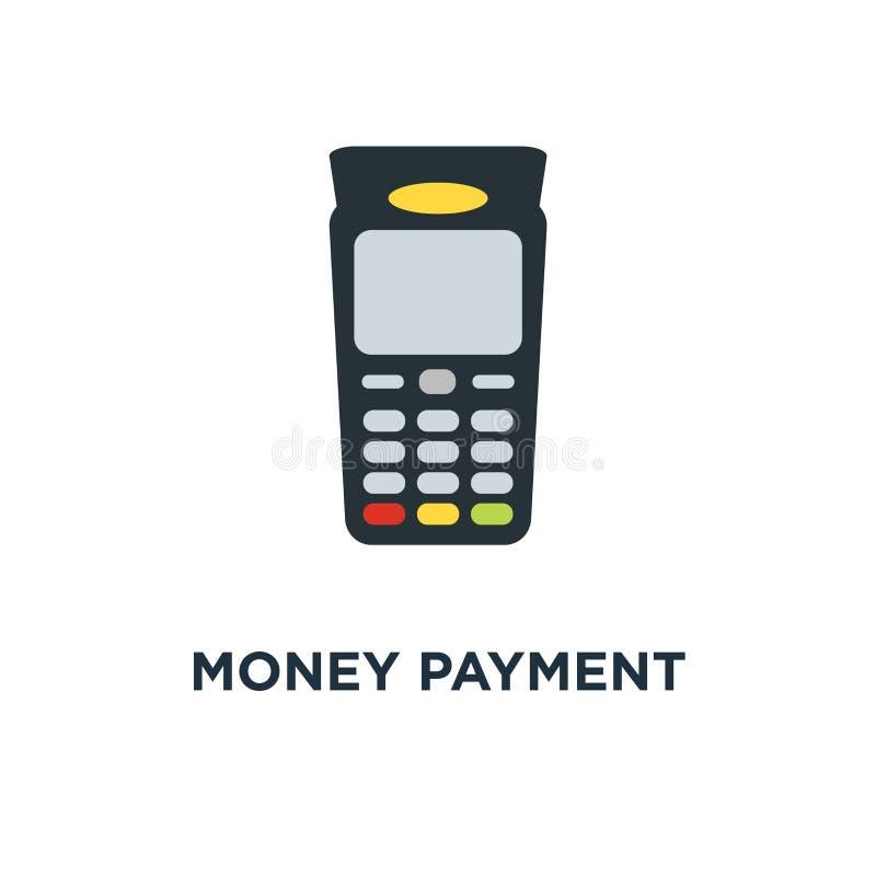 icona della macchina di erogazione in denaro progettazione di simbolo di concetto dei soldi di paga, pagamenti online con la cart illustrazione vettoriale