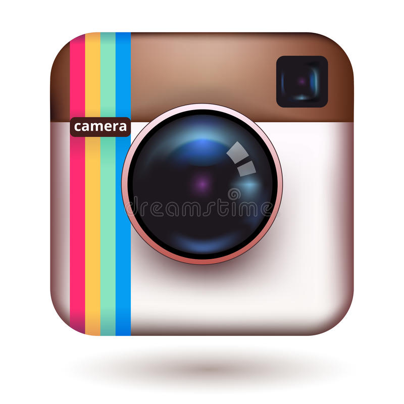 Icona della macchina fotografica dei pantaloni a vita bassa royalty illustrazione gratis