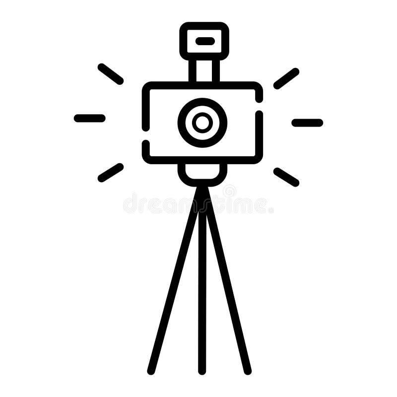 Icona della macchina fotografica della foto illustrazione vettoriale