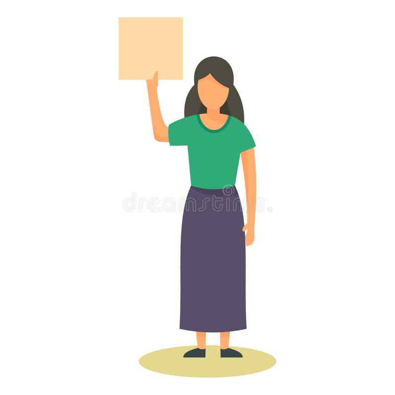 Icona della mano dell'insegna della donna, stile piano royalty illustrazione gratis
