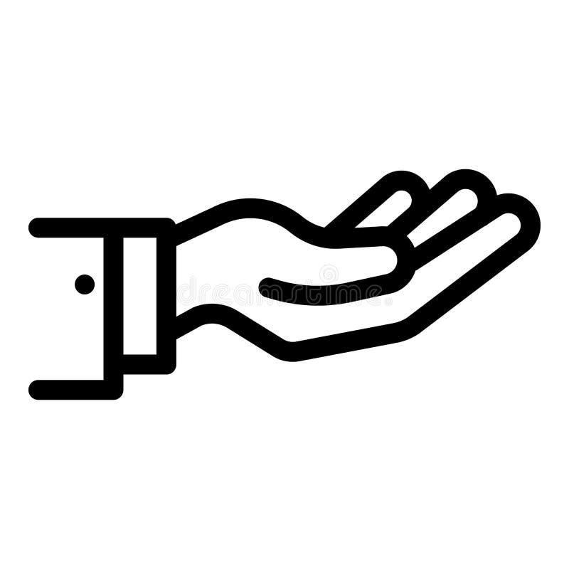 Icona della mano di elasticità, stile del profilo royalty illustrazione gratis