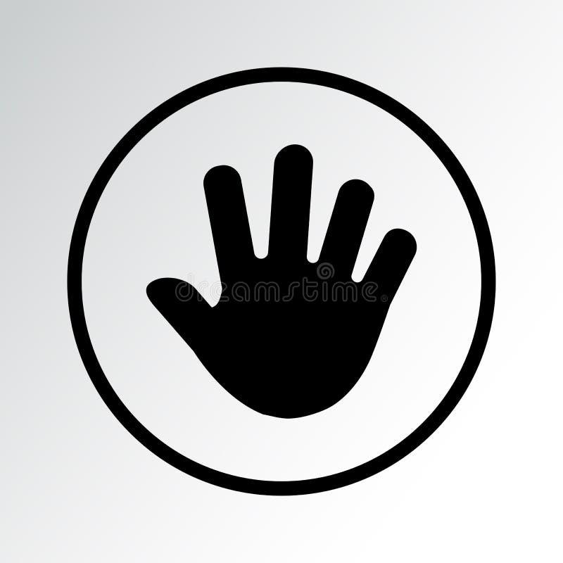 Icona della mano nera Illustrazione di vettore illustrazione vettoriale