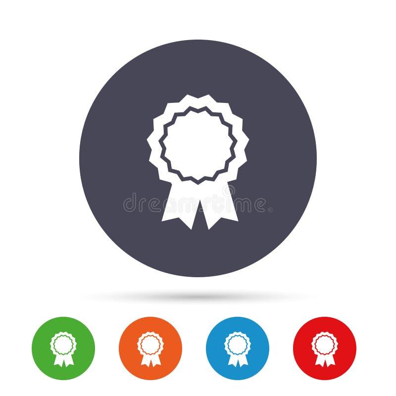 Icona della medaglia del premio Migliore simbolo di garanzia illustrazione vettoriale