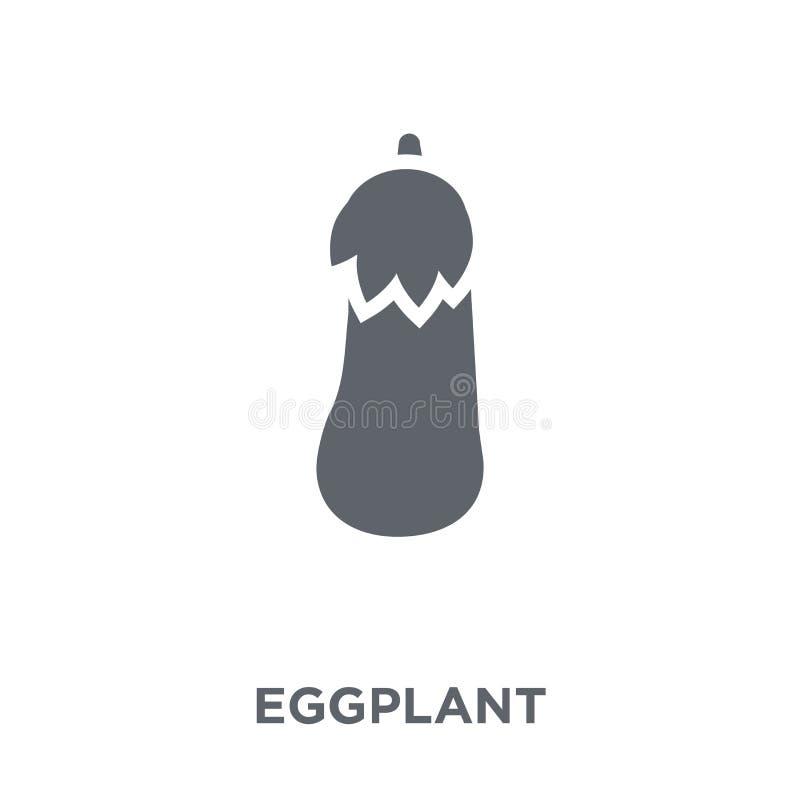 Icona della melanzana dalla raccolta delle verdure e della frutta illustrazione vettoriale