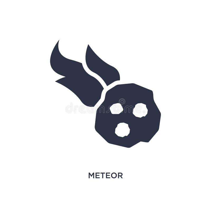 icona della meteora su fondo bianco Illustrazione semplice dell'elemento dal concetto di età della pietra illustrazione di stock