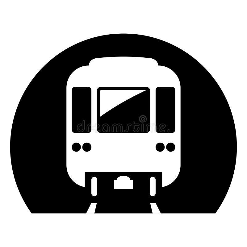 Icona della metropolitana, sistema di città ferroviario elettrico sotterraneo illustrazione di stock