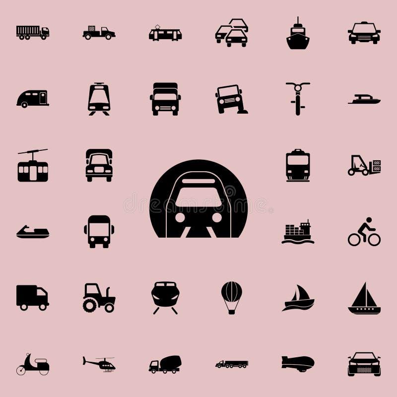 Icona della metropolitana Trasporti l'insieme universale delle icone per il web ed il cellulare illustrazione di stock