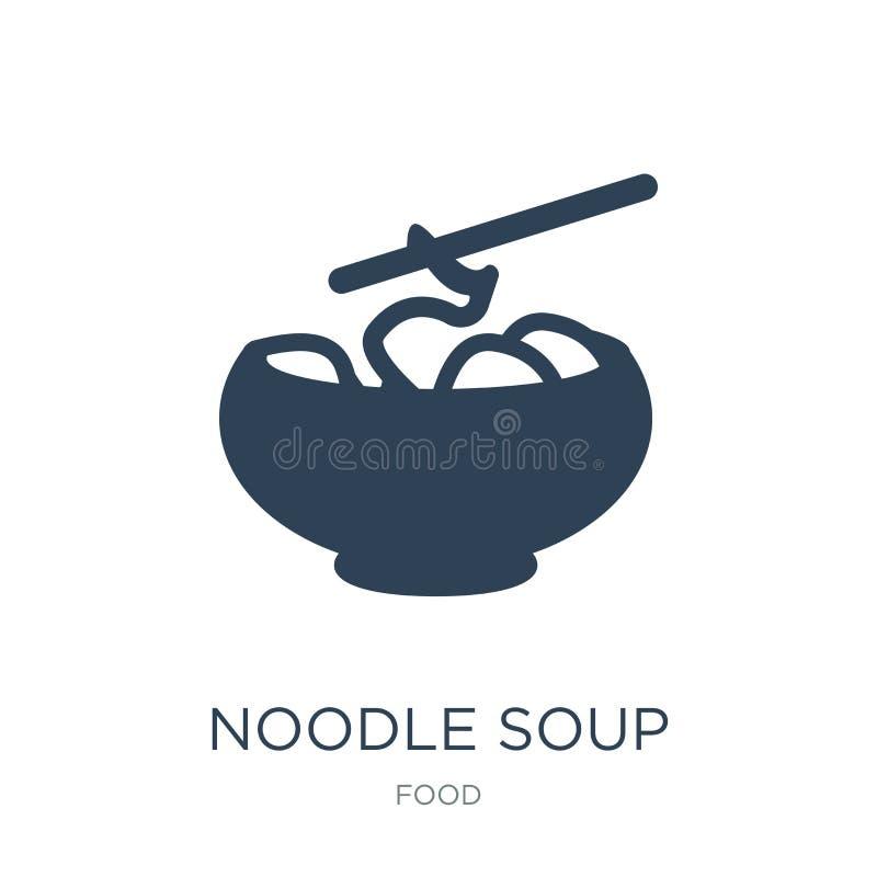 icona della minestra di pasta nello stile d'avanguardia di progettazione icona della minestra di pasta isolata su fondo bianco ic illustrazione di stock