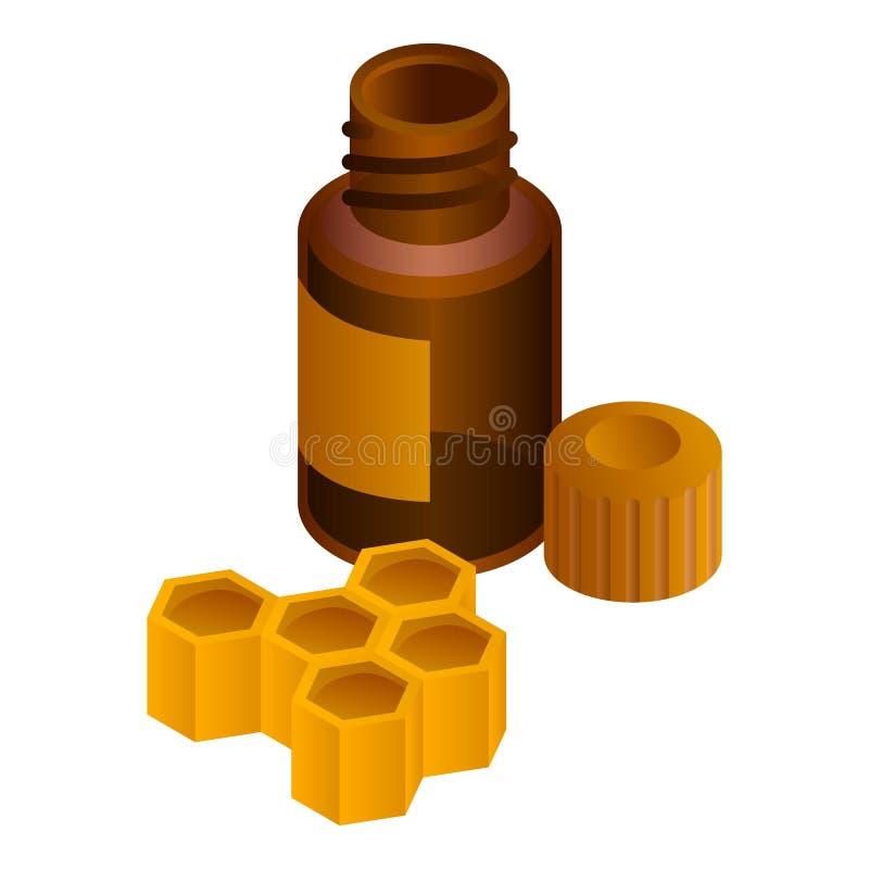 Icona della miscela del favo, stile isometrico illustrazione di stock