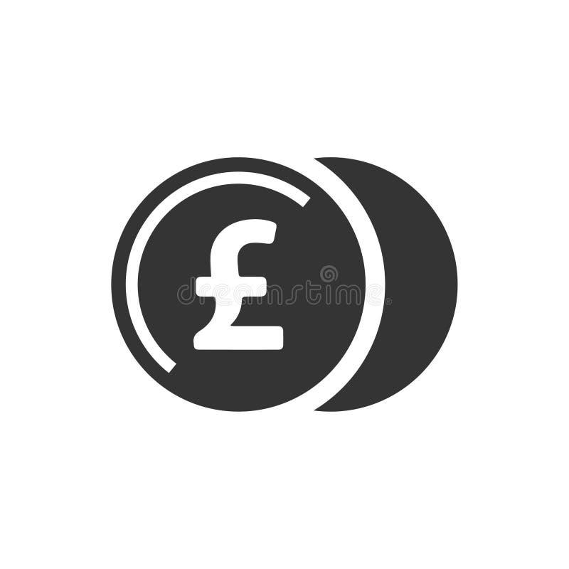 Icona della moneta di libbra illustrazione vettoriale