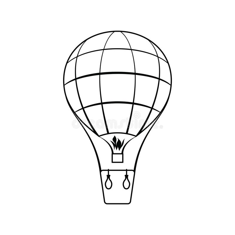 Icona della mongolfiera royalty illustrazione gratis