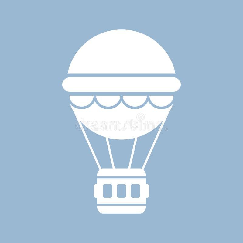 Icona della mongolfiera illustrazione di stock
