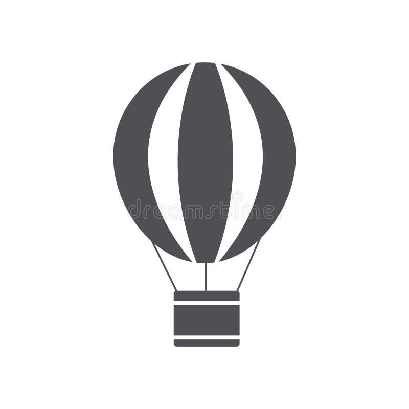Icona della mongolfiera Icona piana minima moderna di progettazione Illustrazione di vettore illustrazione vettoriale