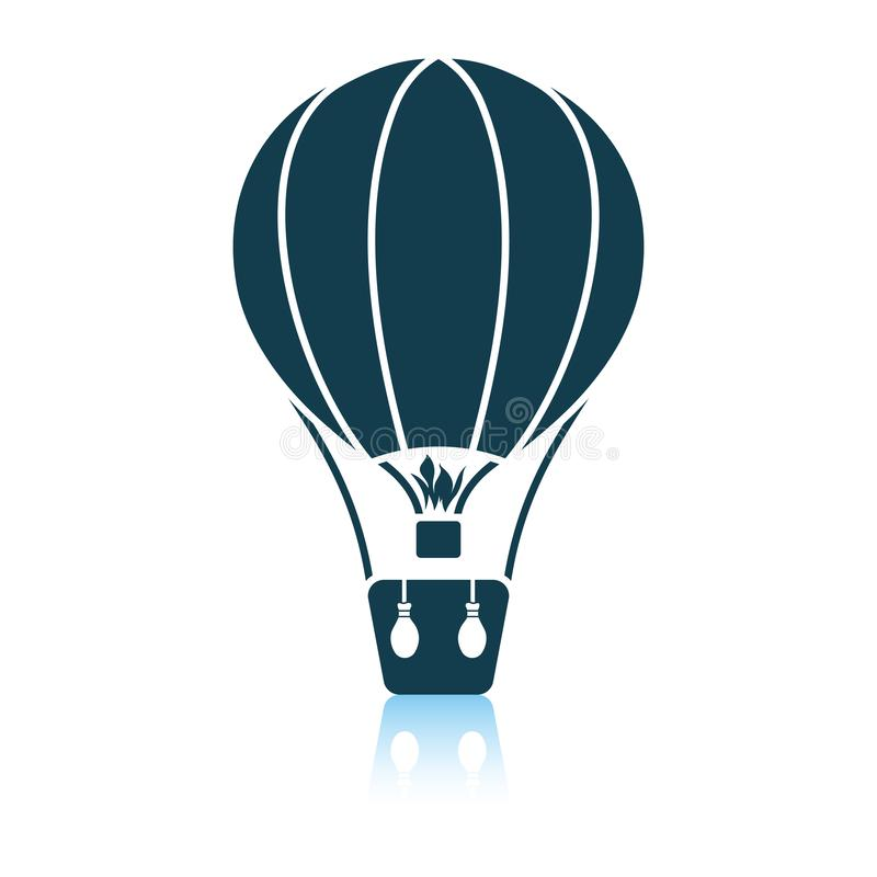 Icona della mongolfiera illustrazione vettoriale