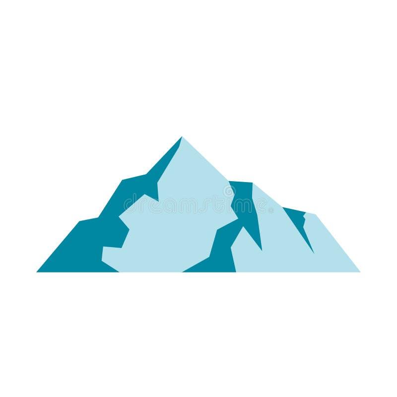 Icona della montagna di ghiaccio, stile piano royalty illustrazione gratis