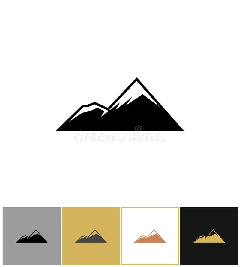 Icona della montagna, montagne della roccia delle alpi royalty illustrazione gratis