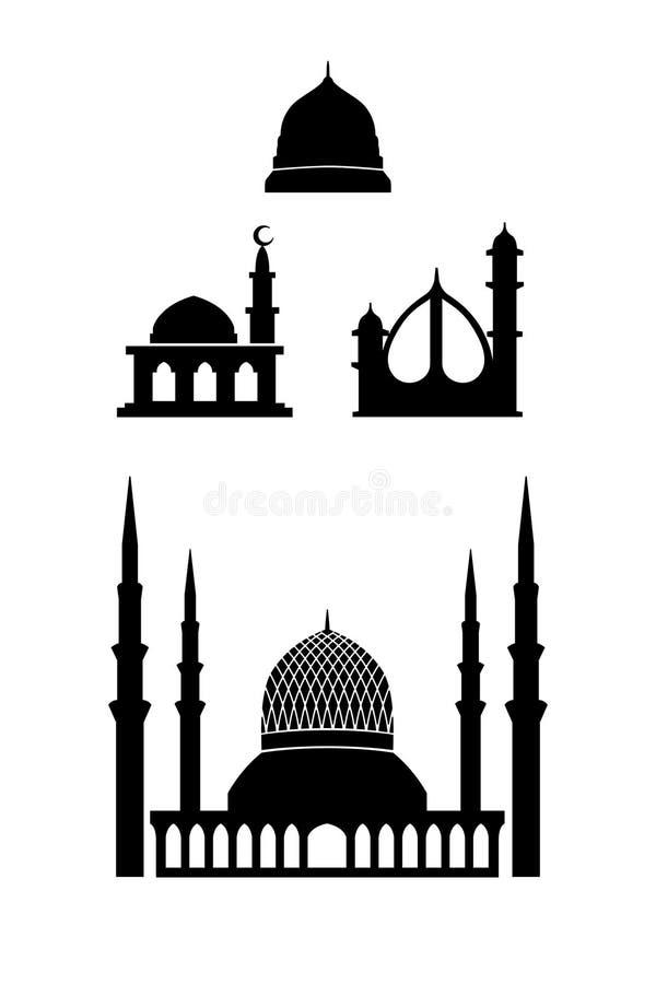 Icona della moschea dello Shah Alam illustrazione vettoriale