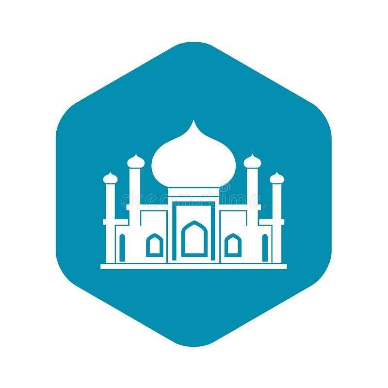 Icona della moschea nello stile semplice royalty illustrazione gratis