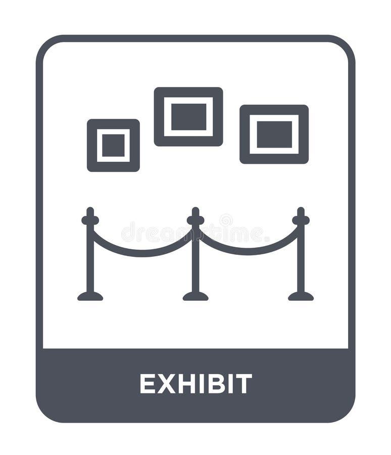 icona della mostra nello stile d'avanguardia di progettazione icona della mostra isolata su fondo bianco simbolo piano semplice e illustrazione di stock