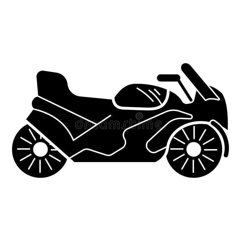 Icona della motocicletta di sport, stile semplice royalty illustrazione gratis