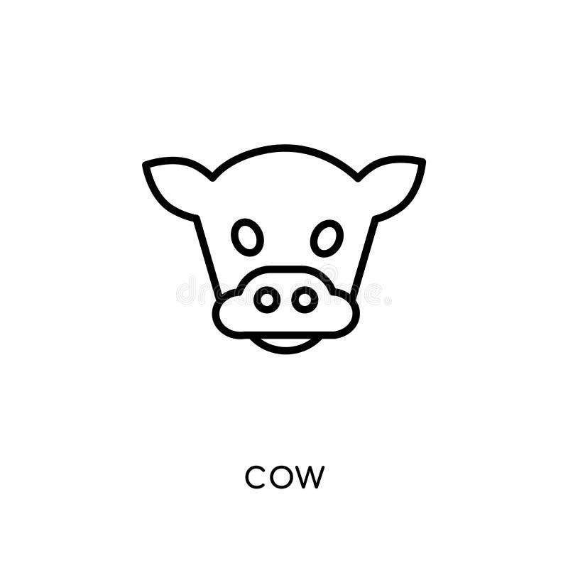 Icona della mucca dalla raccolta di azienda agricola e di giardinaggio di agricoltura, royalty illustrazione gratis