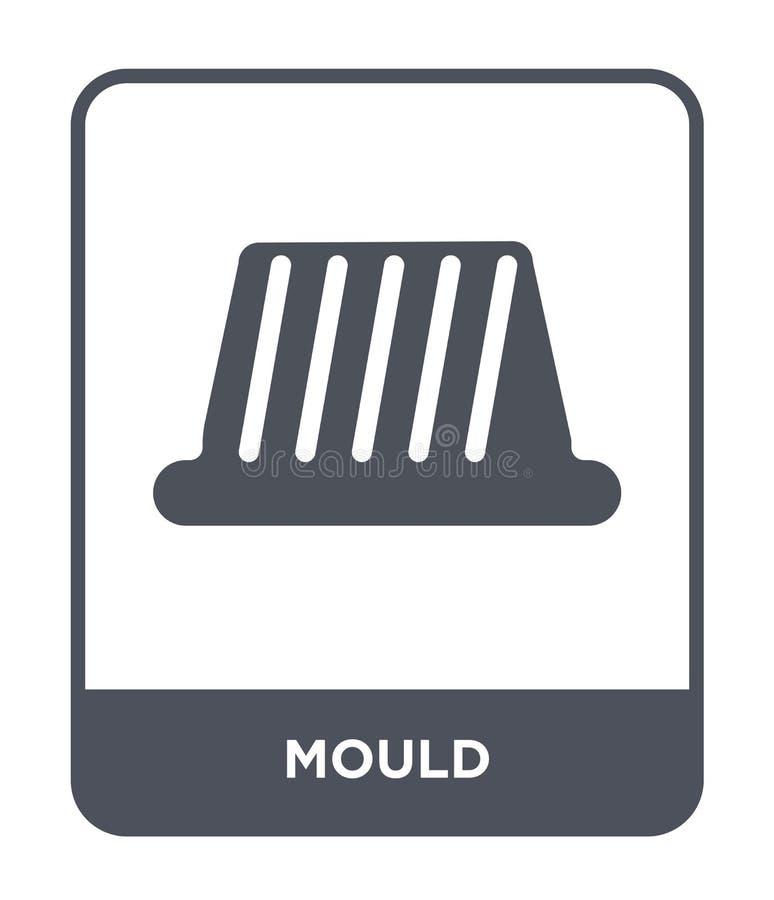 icona della muffa nello stile d'avanguardia di progettazione Icona della muffa isolata su fondo bianco simbolo piano semplice e m illustrazione vettoriale