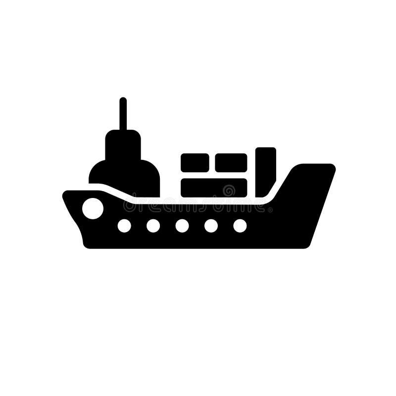 Icona della nave da carico  royalty illustrazione gratis