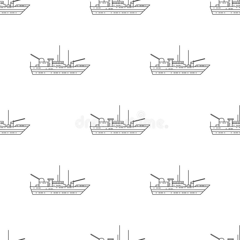 Icona della nave da guerra Elemento dell'icona dell'esercito per i apps mobili di web e di concetto Icona senza cuciture della na illustrazione vettoriale