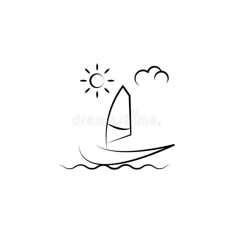 Icona della nave di navigazione Elemento dell'icona antinvecchiamento per i apps mobili di web e di concetto L'icona della nave d illustrazione vettoriale