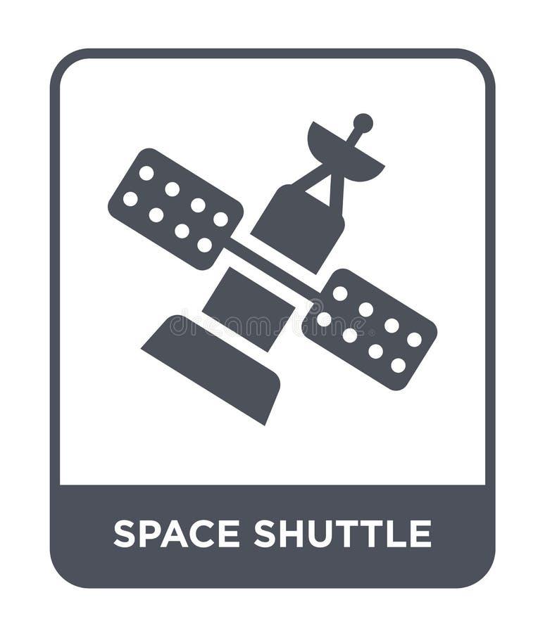 icona della navetta spaziale nello stile d'avanguardia di progettazione Icona della navetta spaziale isolata su fondo bianco icon illustrazione vettoriale