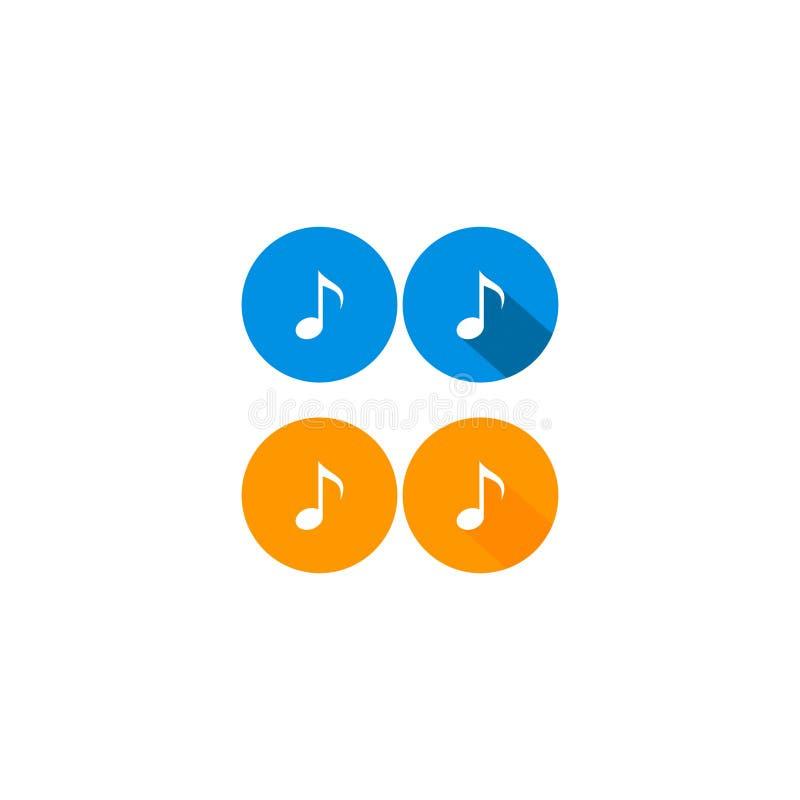 Icona 7 della nota di musica di vettore illustrazione vettoriale