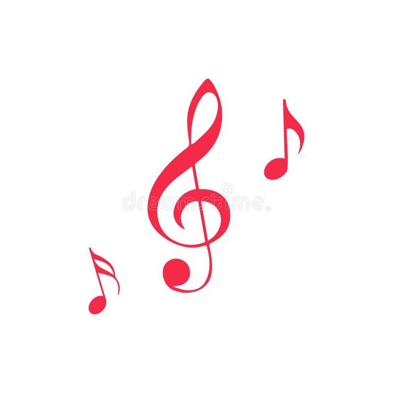 Icona della nota musicale, icona di musica con il segno non permesso L'icona ed il blocchetto della nota musicale, severi, proibi illustrazione di stock