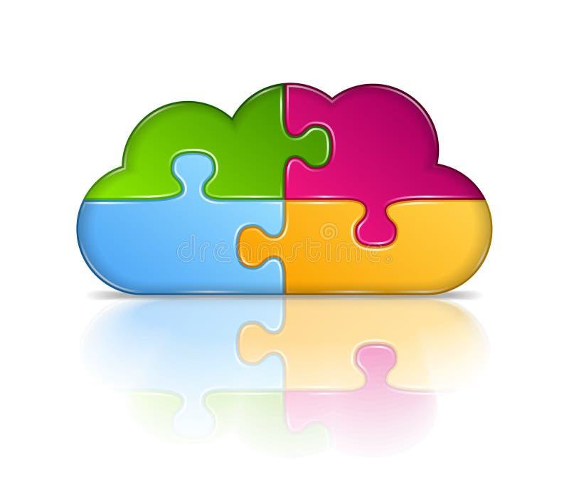 Icona della nuvola illustrazione di stock