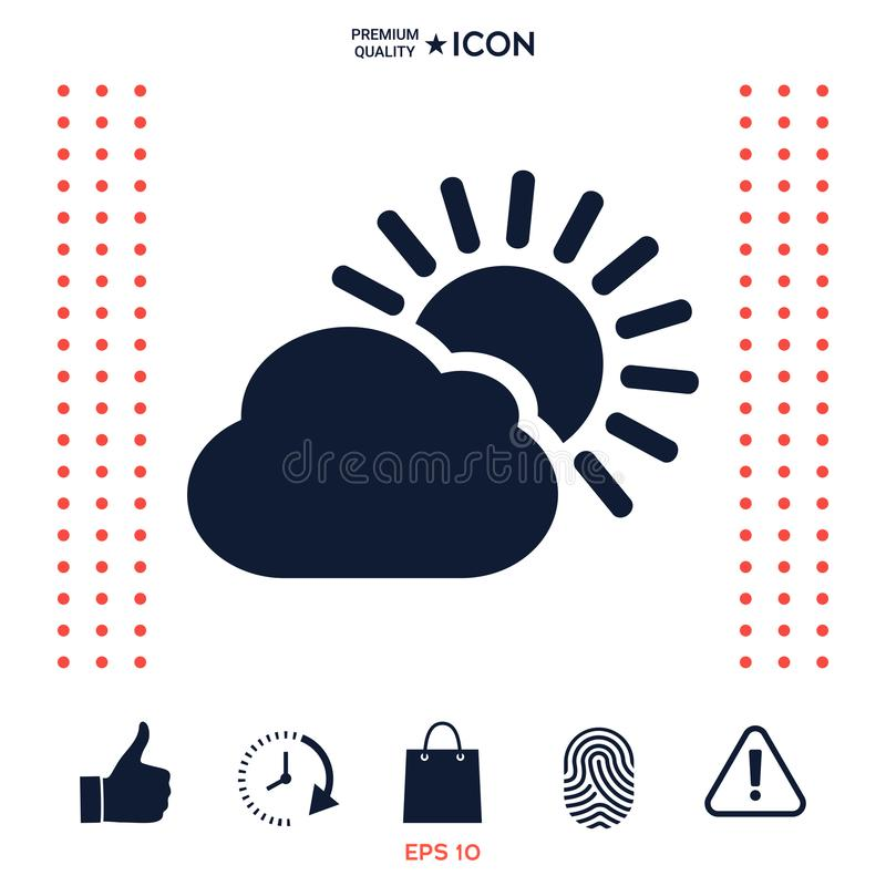 Download Icona della nuvola di Sun illustrazione vettoriale. Illustrazione di calore - 117976993