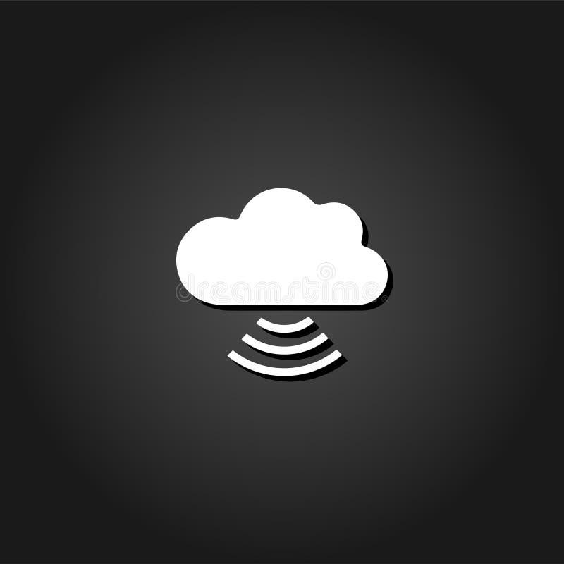 Icona della nuvola di Wi-Fi piana royalty illustrazione gratis