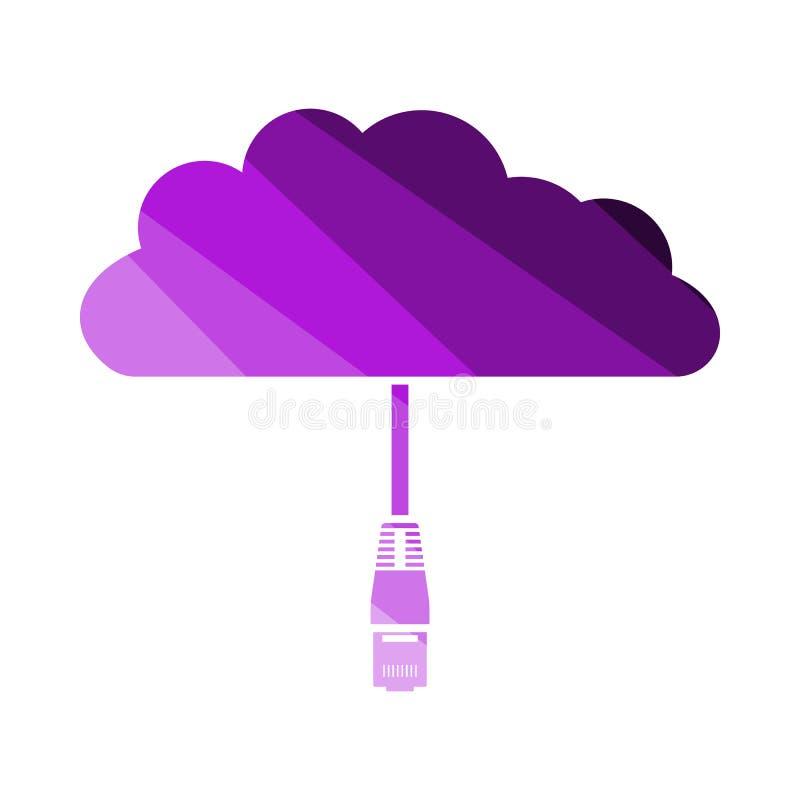 Icona della nuvola della rete illustrazione vettoriale