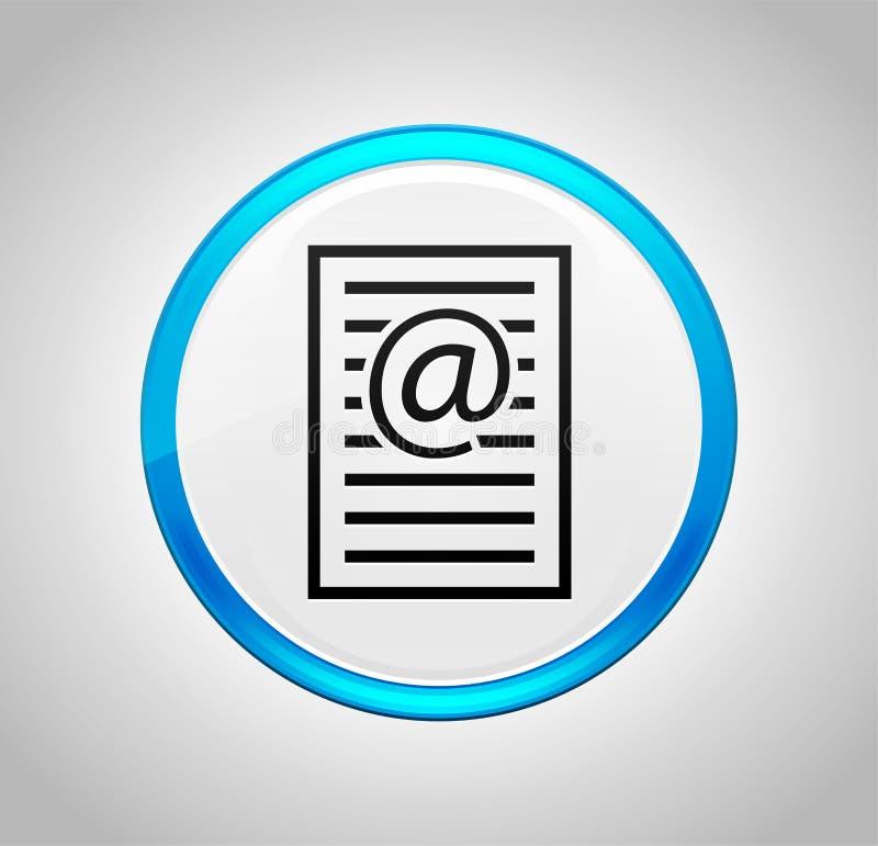 Icona della pagina di indirizzo email intorno al pulsante blu royalty illustrazione gratis