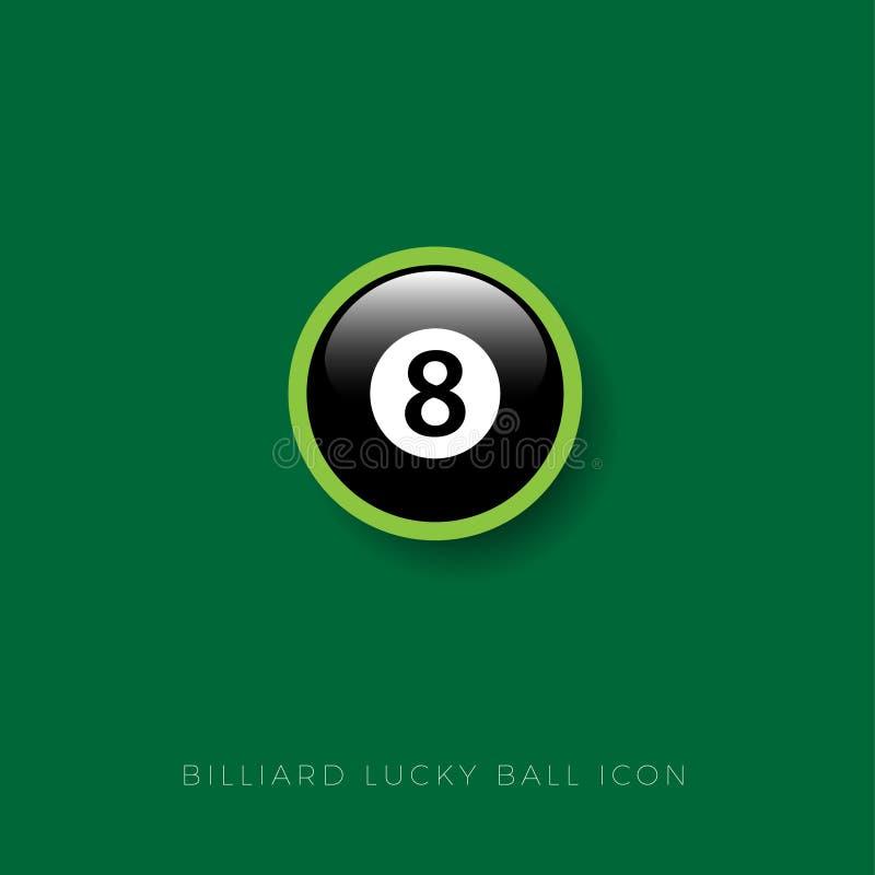 Icona della palla da biliardo Talismano fortunato Palla da biliardo Icona di Web royalty illustrazione gratis