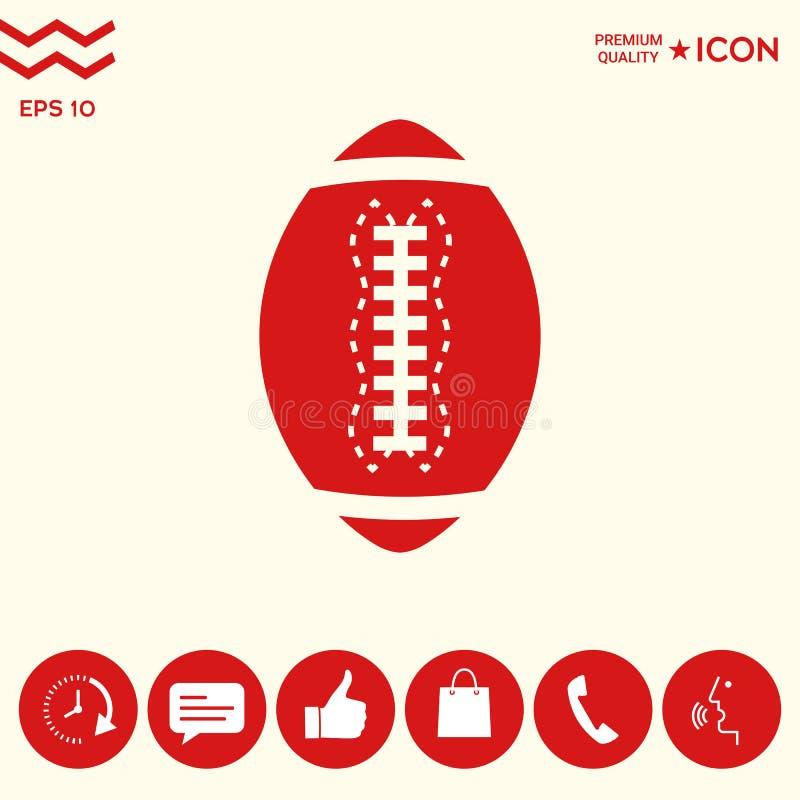 Download Icona Della Palla Di Football Americano Illustrazione Vettoriale - Illustrazione di riga, ricreazione: 117982111
