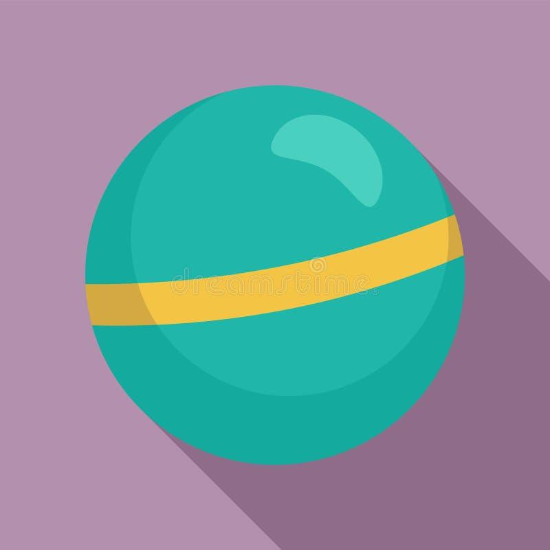 Icona della palla di ginnastica ritmica, stile piano illustrazione vettoriale