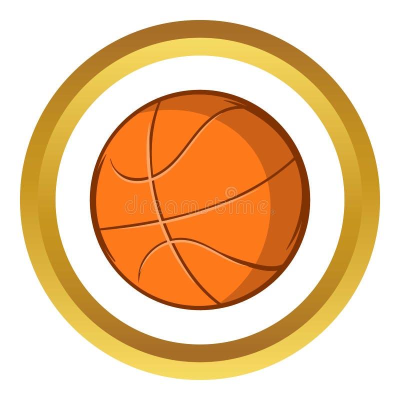 Icona della palla di pallacanestro, stile del fumetto royalty illustrazione gratis